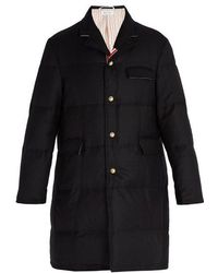 Thom Browne - Chesterfield Down-filled Wool Coat - Lyst