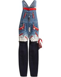 Noki - Customised Street Couture Denim Dungarees - Lyst