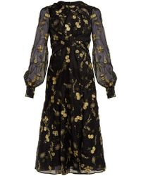 Erdem - Carwen Lismore Embroidery Organza Dress - Lyst