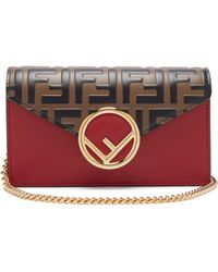 Fendi - Ff Logo Leather Belt Bag - Lyst