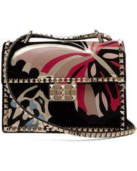 Valentino - Rockstud Velvet Shoulder Bag - Lyst