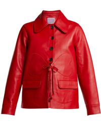 ALEXACHUNG - Heart Patch Leather Jacket - Lyst