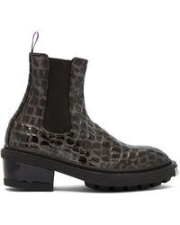 Eytys - Nikita Crocodile-effect Leather Chelsea Boots - Lyst