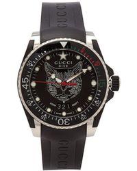Gucci - Dive Feline Stainless Steel Watch - Lyst