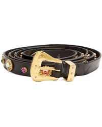 Dodo Bar Or - Roxana Wraparound Skinny Embellished Belt - Lyst
