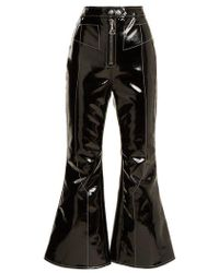 Ellery - Sipsi Kick-flare Cropped Patent Trousers - Lyst