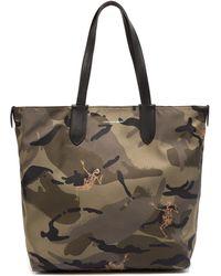 Alexander McQueen - Dancing Skeleton Camouflage Print Tote Bag - Lyst