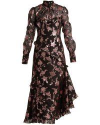 Erdem - Faylin Floral Fil Coupe Dress - Lyst