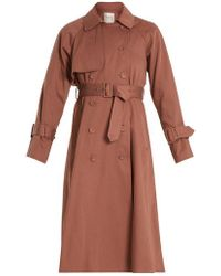 Sea - Belted Cotton Double-breasted Trench Coat - Lyst