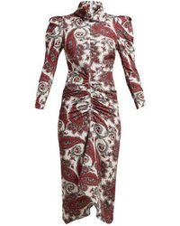 Isabel Marant - Tizy Paisley-print Silk High-neck Dress - Lyst