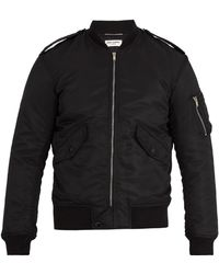 Saint Laurent | Contrast-trim Bomber Jacket | Lyst