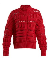 Isabel Marant - Zoe Chunky-knit Cotton-blend Sweater - Lyst