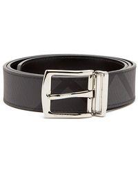 Burberry - London Check Leather Belt - Lyst