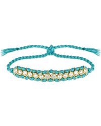 Theodora Warre - Topaz, Gold-plated And Cotton Bracelet - Lyst