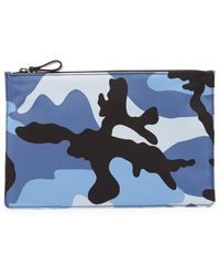 Valentino - Flat Camouflage Pouch - Lyst