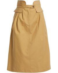 Sea - Kamille High Waisted Cotton Blend Skirt - Lyst