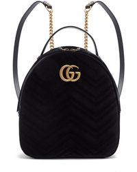 89a6d0177 Lyst - Gucci Gg Marmont Leather Backpack in Black