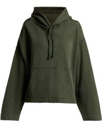 Acne Studios - Joghy Cropped Cotton Hooded Sweatshirt - Lyst