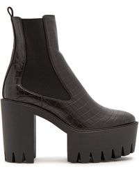 Stella McCartney | Monster Crocodile-effect Faux-leather Ankle Boots | Lyst