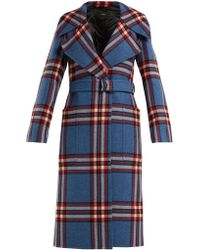 JOSEPH - Teodor Belted Wool Check Coat - Lyst