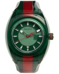 Gucci | Sync Web-striped Watch | Lyst