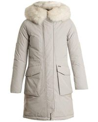 Woolrich - Military Fur-trimmed Down Parka - Lyst