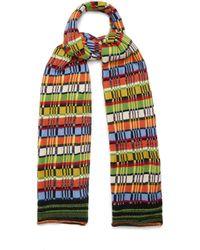 Etro - Striped Wool-blend Knit Scarf - Lyst