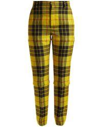 Balenciaga | Macleod Mid-rise Tartan Trousers | Lyst