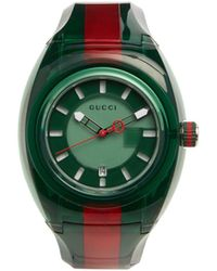 0d6f2ce1917 Lyst - Gucci Sync Unisex Swiss White Striped Rubber Strap Watch 46mm ...