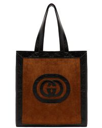 Gucci - - Ophidia Medium Suede Tote - Mens - Brown Multi - Lyst