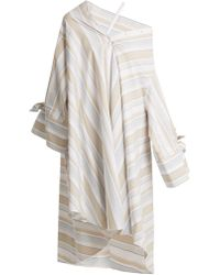 Palmer//Harding - Off-the-shoulder Striped Cotton-blend Shirtdress - Lyst