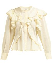 Étoile Isabel Marant - Alea Ruffled Cotton Blouse - Lyst