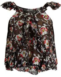 Isabel Marant - Piety Silk Blend Floral Fil Coupé Top - Lyst
