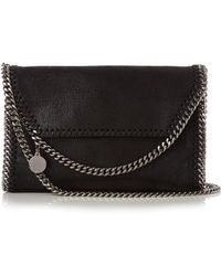 Stella McCartney - Falabella Mini Faux-suede Cross-body Bag - Lyst