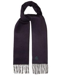 Dunhill - Silk And Cashmere-blend Scarf - Lyst