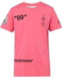 Off-White c/o Virgil Abloh - T-shirt rose Impressionism Boat - Lyst