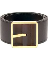 Rochas - Square Buckle Leather Belt - Lyst