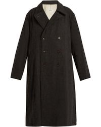 Chimala - Double-breasted Wool-blend Tweed Coat - Lyst