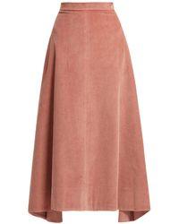 Elizabeth and James - Danielle Cotton Corduroy Midi Skirt - Lyst