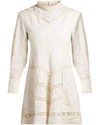 Isabel Marant - Loane Crochet Insert Linen Dress - Lyst