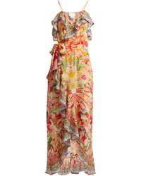 Camilla - Kimono Kisses Print Silk Midi Dress - Lyst