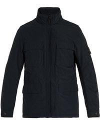 Stone Island - High Neck Technical Jacket - Lyst