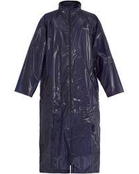 Balenciaga - Self-stowing Hood Coated Raincoat - Lyst
