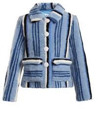 Saks Potts - Lucy Striped Shearling Jacket - Lyst