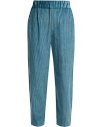 Isabel Marant - Meloy High-waisted Corduroy Trousers - Lyst