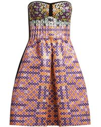 Mary Katrantzou - Metallic Circle Jacquard Dress - Lyst