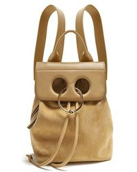 J.W.Anderson - Pierce Mini Suede And Leather Backpack - Lyst