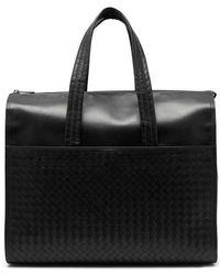 Bottega Veneta - - Intrecciato Leather Holdall - Mens - Black - Lyst