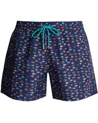 Paul Smith - Fish-print Swim Shorts - Lyst