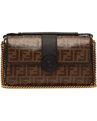 c49ed96e4343 Fendi Micro Baguette Fur-embellished Cross-body Bag in Black - Lyst
